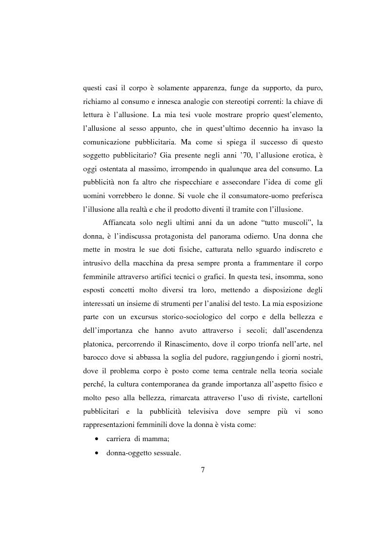 Anteprima della tesi: Sex & Spot. Allusioni erotiche nella pubblicità, Pagina 2