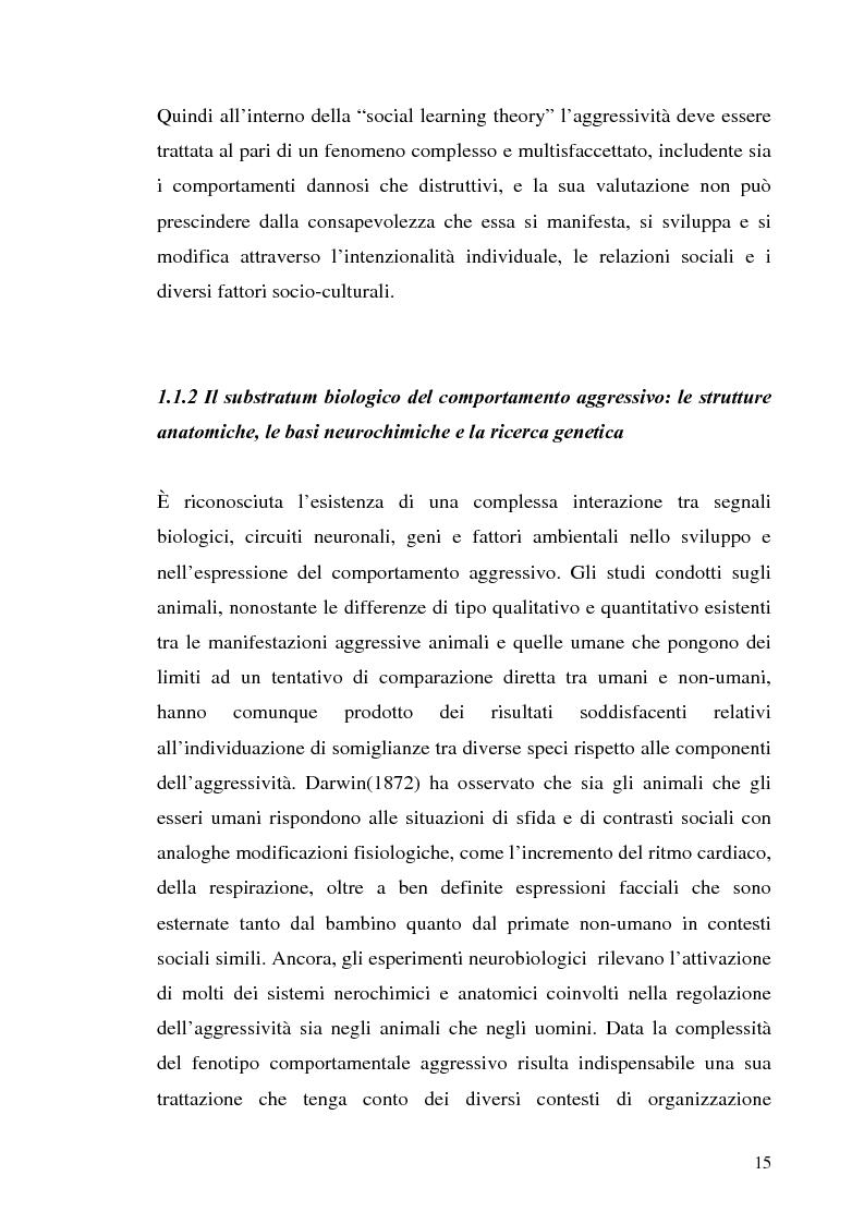 Anteprima della tesi: L'interazione tra fattori genetici e ambientali nelle condotte aggressive e antisociali degli adolescenti: il ruolo del polimorfismo MAOA (monoamina ossidasi-A), Pagina 12