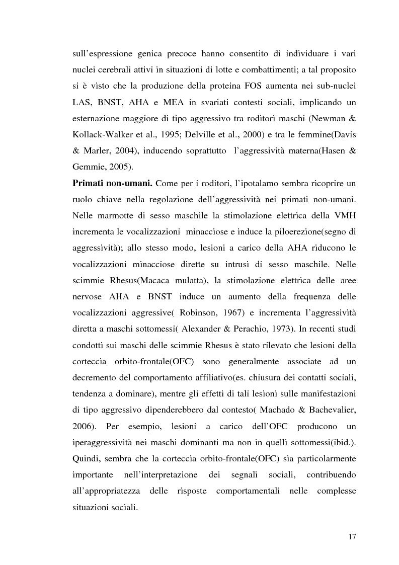 Anteprima della tesi: L'interazione tra fattori genetici e ambientali nelle condotte aggressive e antisociali degli adolescenti: il ruolo del polimorfismo MAOA (monoamina ossidasi-A), Pagina 14