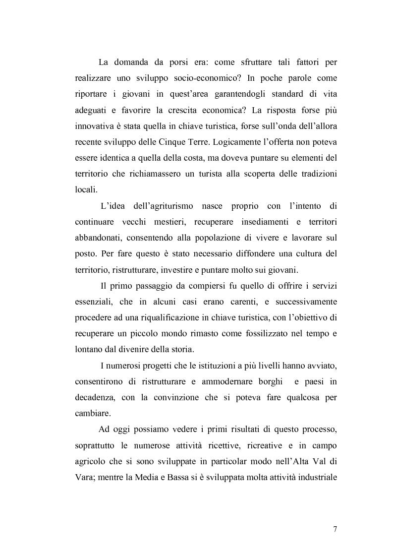 Anteprima della tesi: L'economia della Val di Vara tra Otto e Novecento, Pagina 5