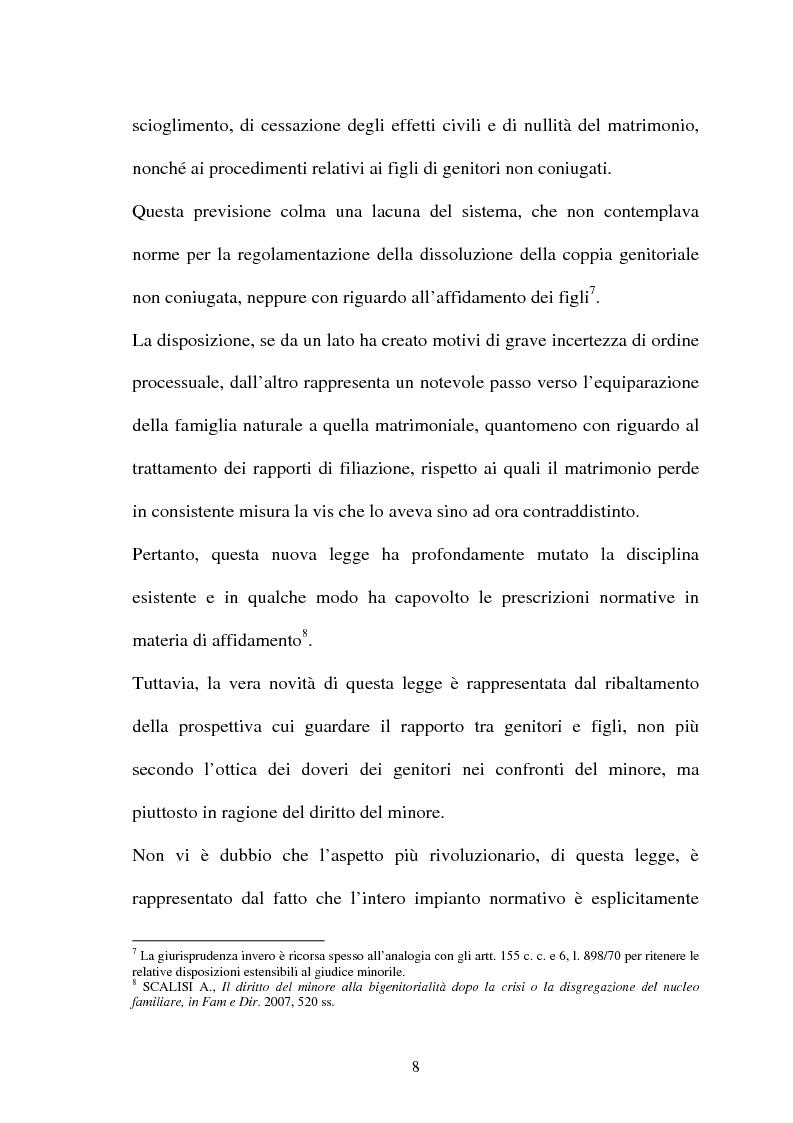Anteprima della tesi: Affido condiviso, Pagina 6