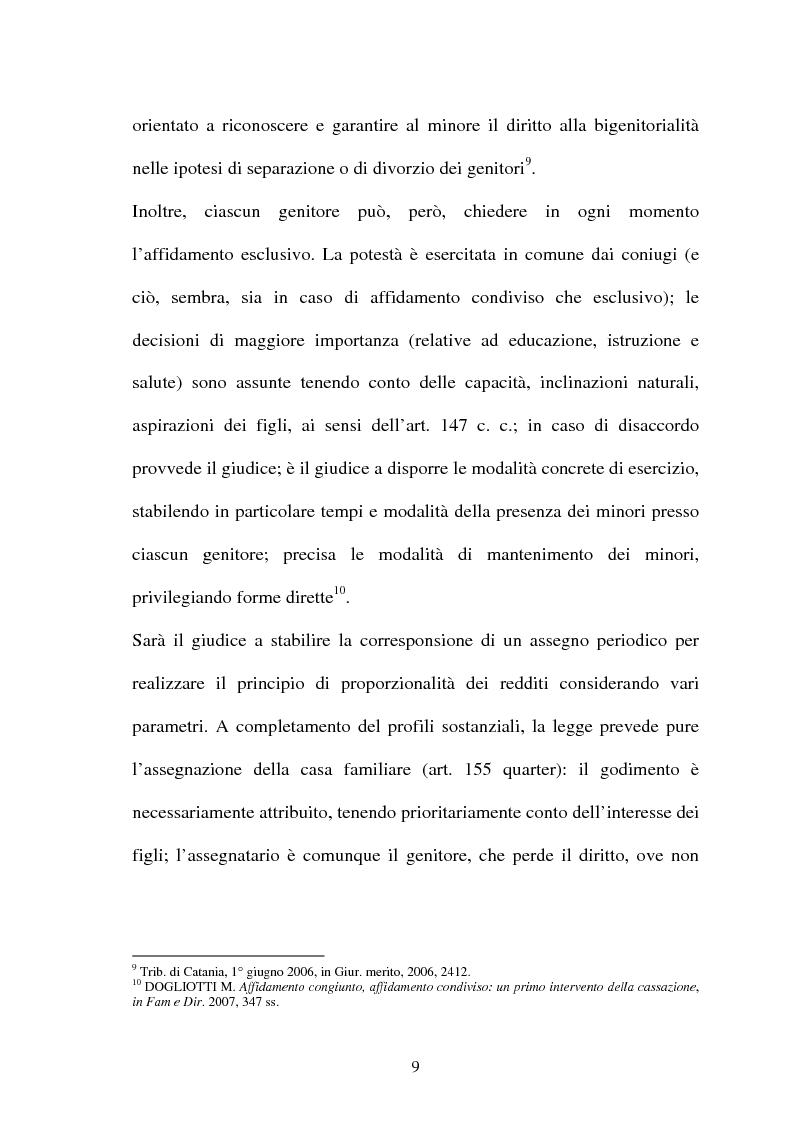 Anteprima della tesi: Affido condiviso, Pagina 7
