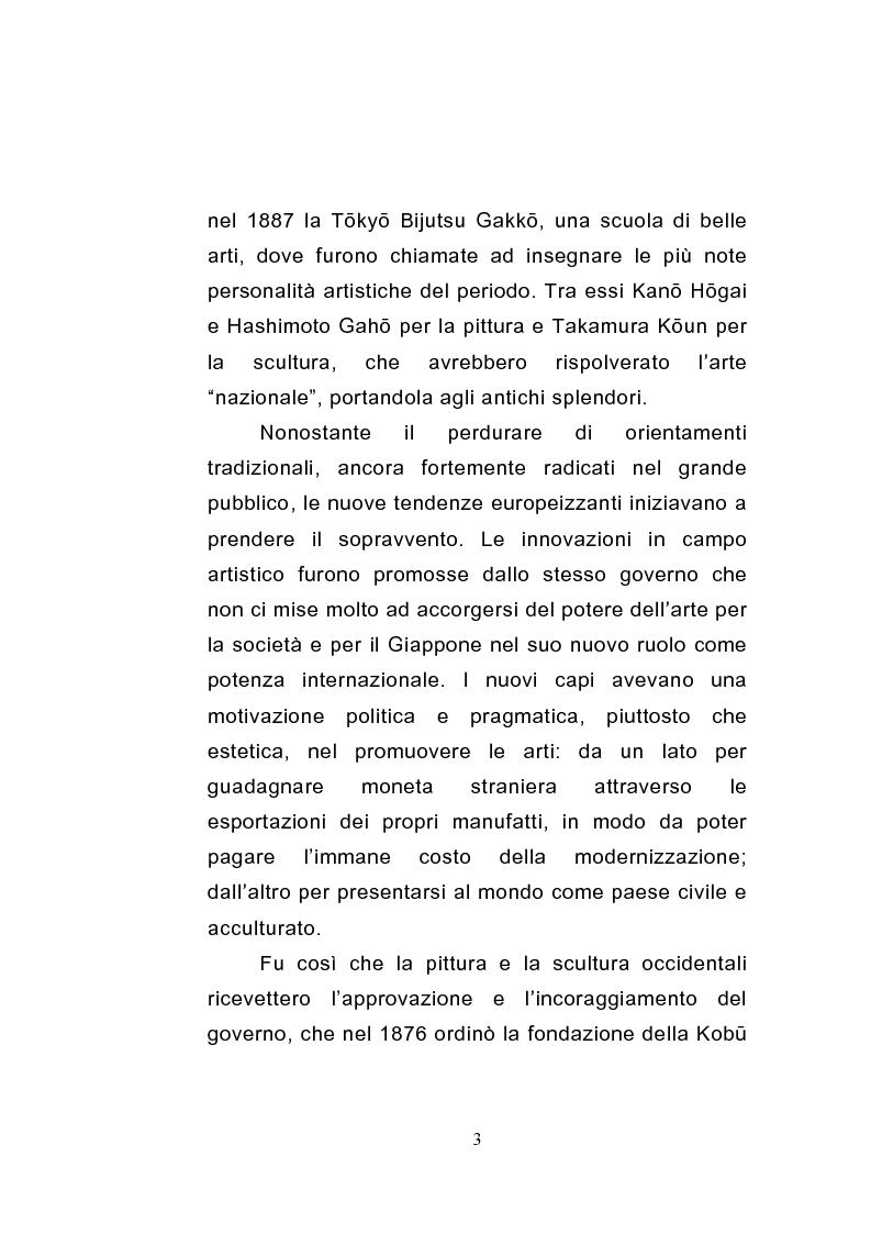 Anteprima della tesi: Gli sviluppi della scultura giapponese dell'era Meiji, Pagina 3