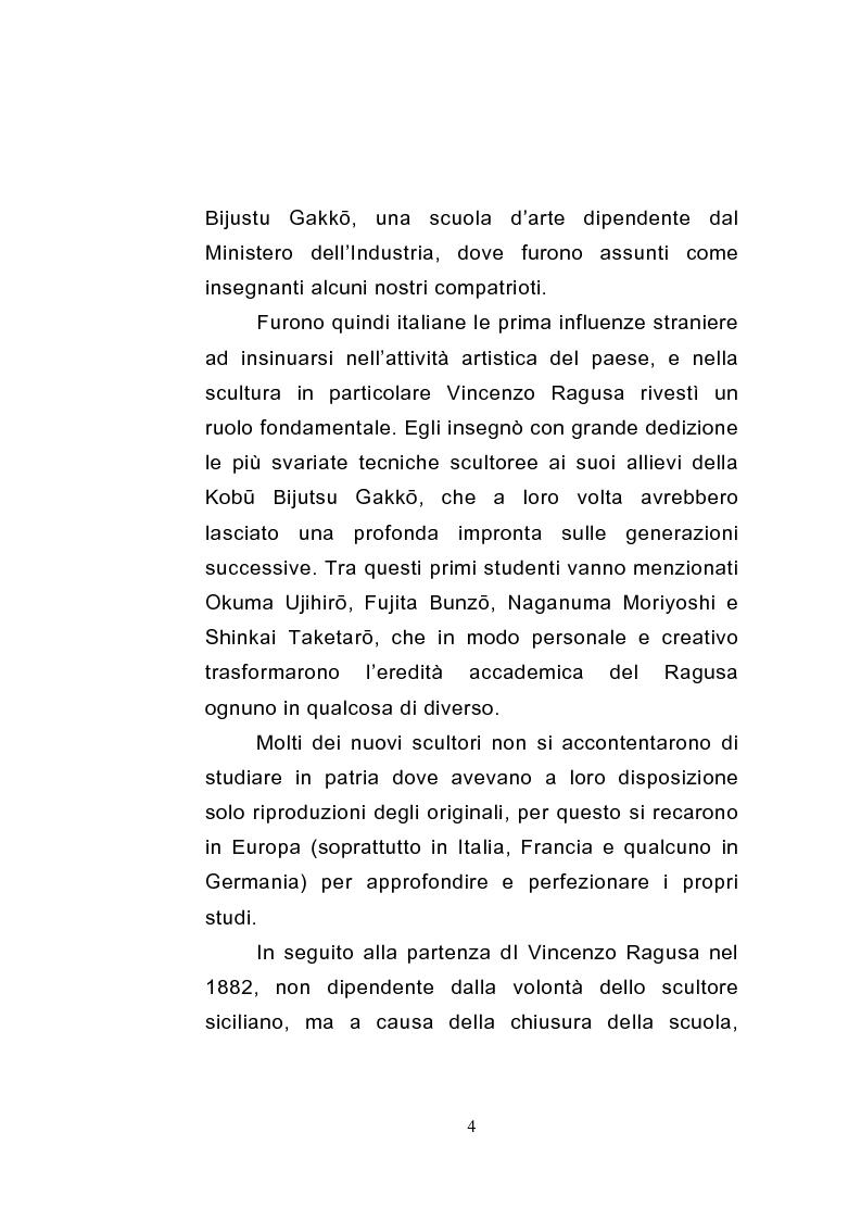 Anteprima della tesi: Gli sviluppi della scultura giapponese dell'era Meiji, Pagina 4