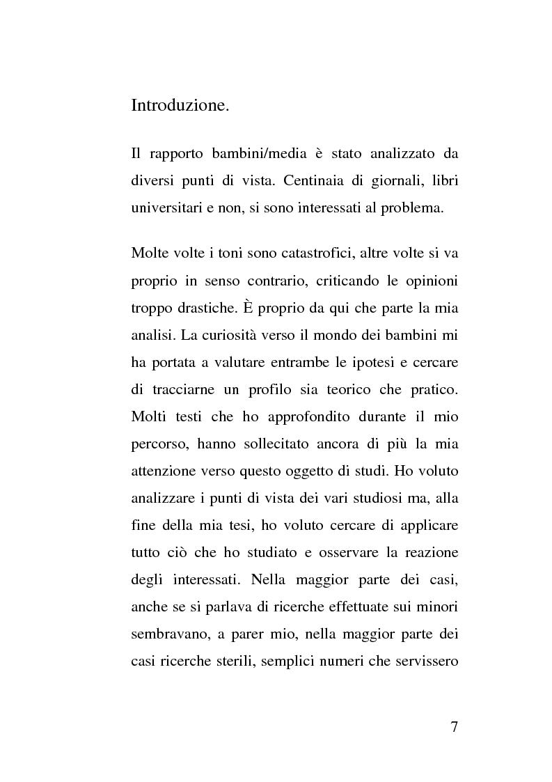 Anteprima della tesi: La crescita socio - emotivo - cognitiva del bambino attraverso lo spot e la tutela dei minori, Pagina 1