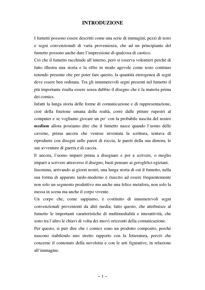 Anteprima della tesi: La comunicazione massmediologica nel fumetto: un'analisi, Pagina 1