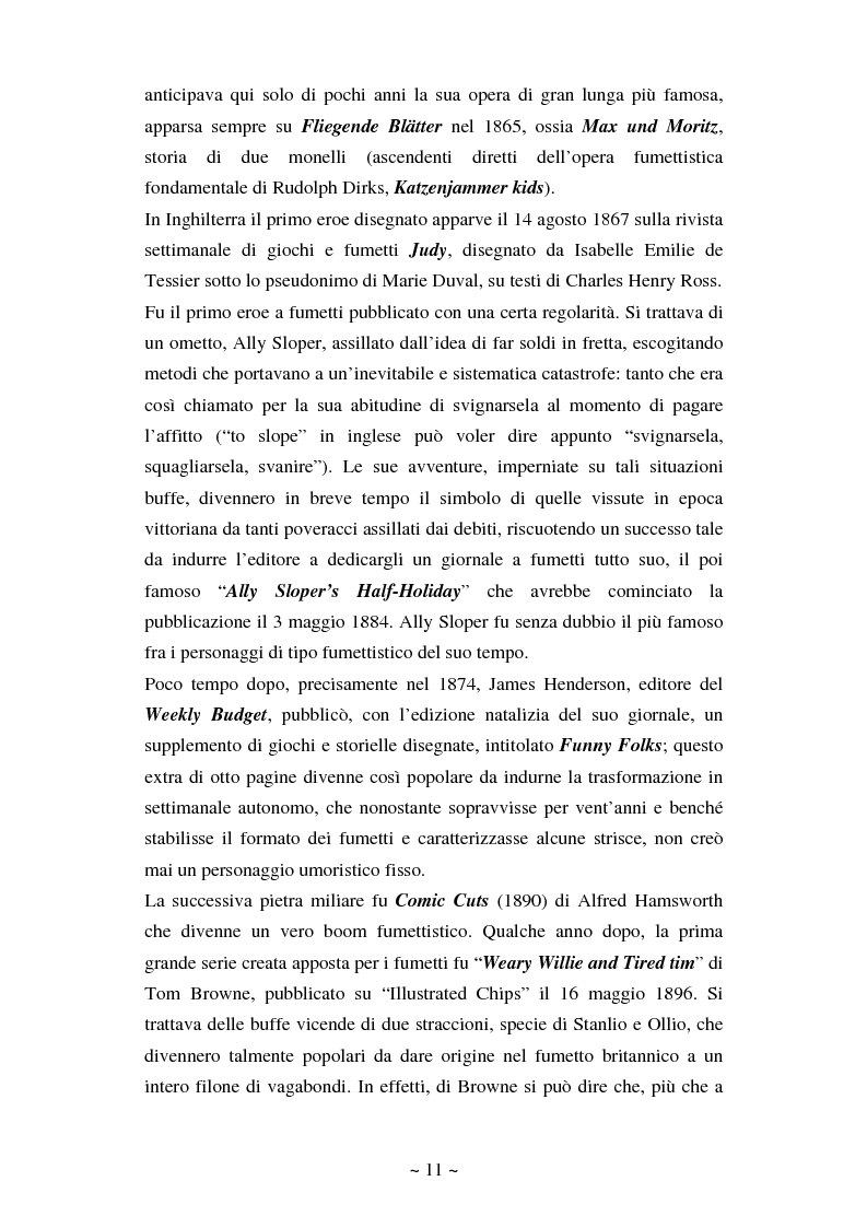 Anteprima della tesi: La comunicazione massmediologica nel fumetto: un'analisi, Pagina 10