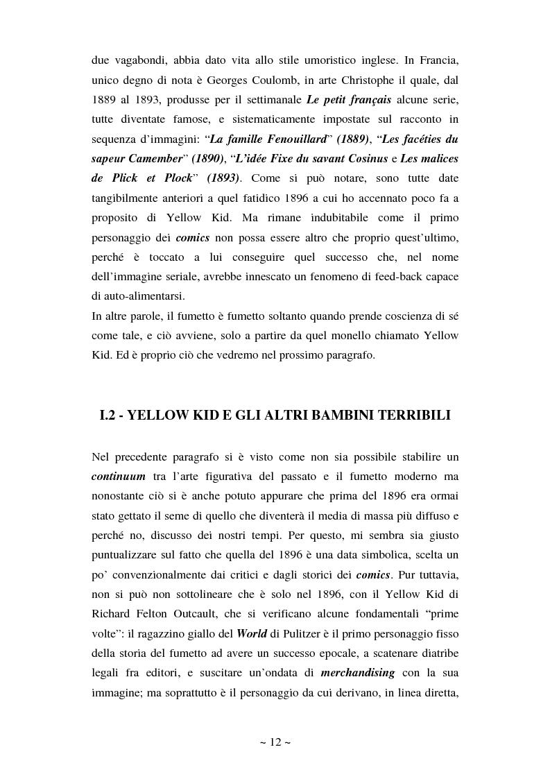 Anteprima della tesi: La comunicazione massmediologica nel fumetto: un'analisi, Pagina 11