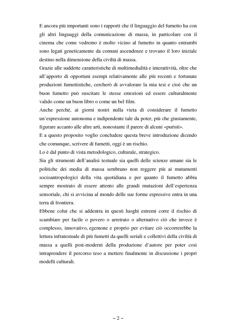 Anteprima della tesi: La comunicazione massmediologica nel fumetto: un'analisi, Pagina 2