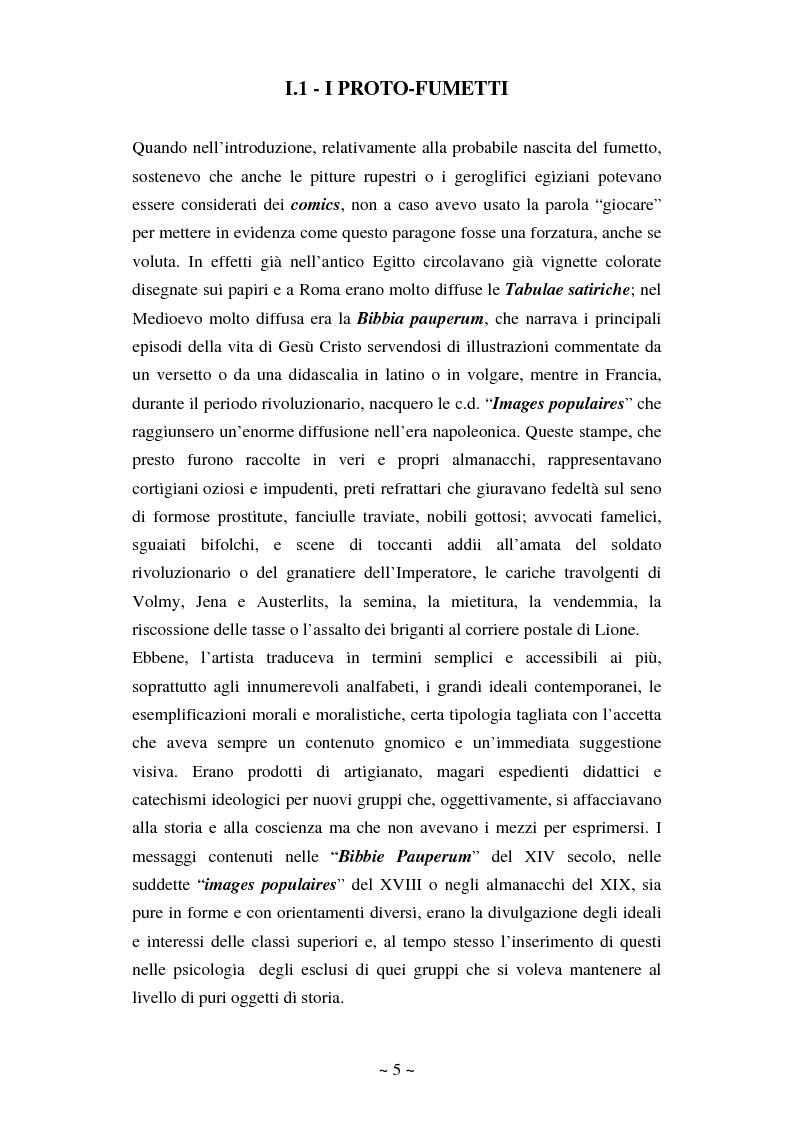 Anteprima della tesi: La comunicazione massmediologica nel fumetto: un'analisi, Pagina 4