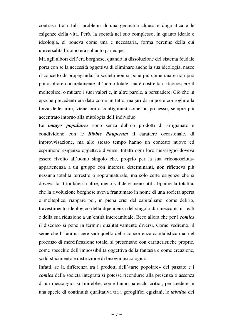 Anteprima della tesi: La comunicazione massmediologica nel fumetto: un'analisi, Pagina 6