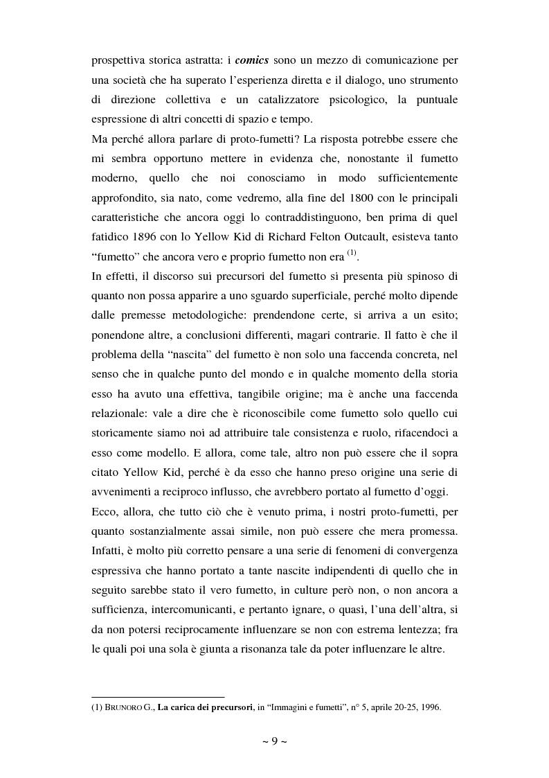Anteprima della tesi: La comunicazione massmediologica nel fumetto: un'analisi, Pagina 8