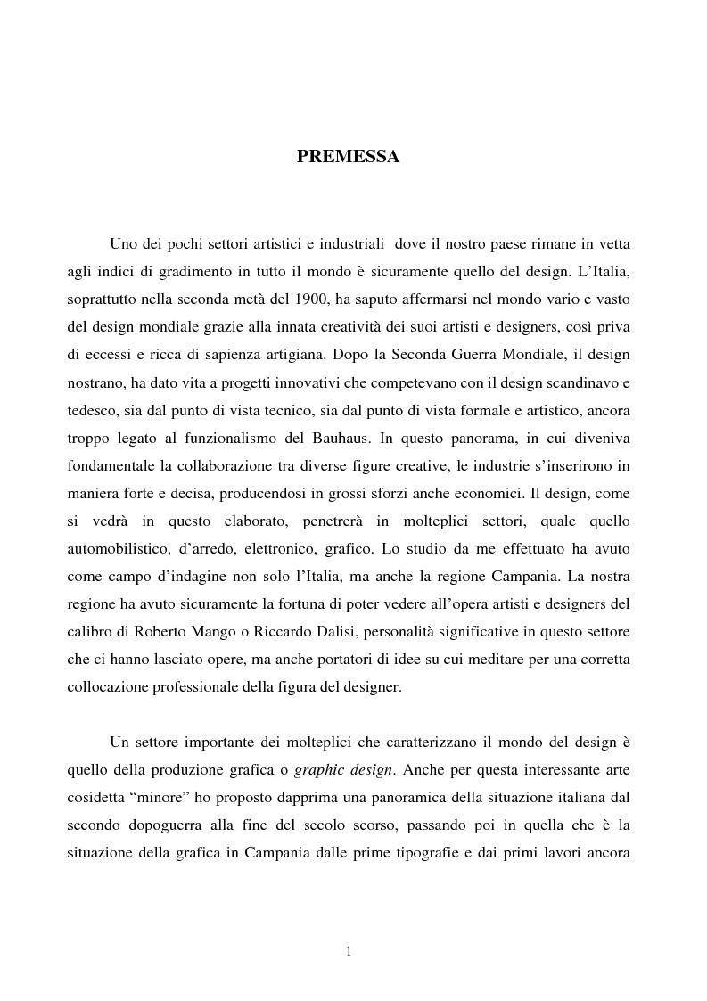 Anteprima della tesi: Design e produzione grafica in Campania nella seconda metà del 900, Pagina 1