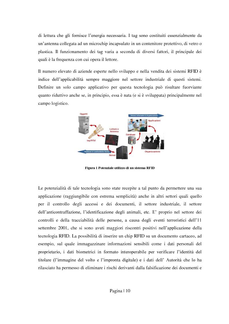 Anteprima della tesi: Sicurezza per Radio Frequency Identification: tracciare le merci preservando la privacy, Pagina 2