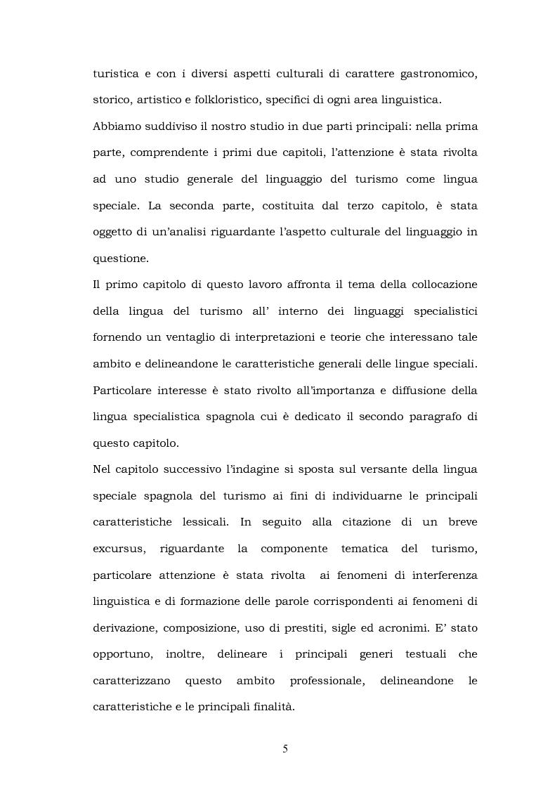 Anteprima della tesi: Il linguaggio del turismo: la traduzione dei realia tra linguaggio specialistico e lingua di cultura, Pagina 2