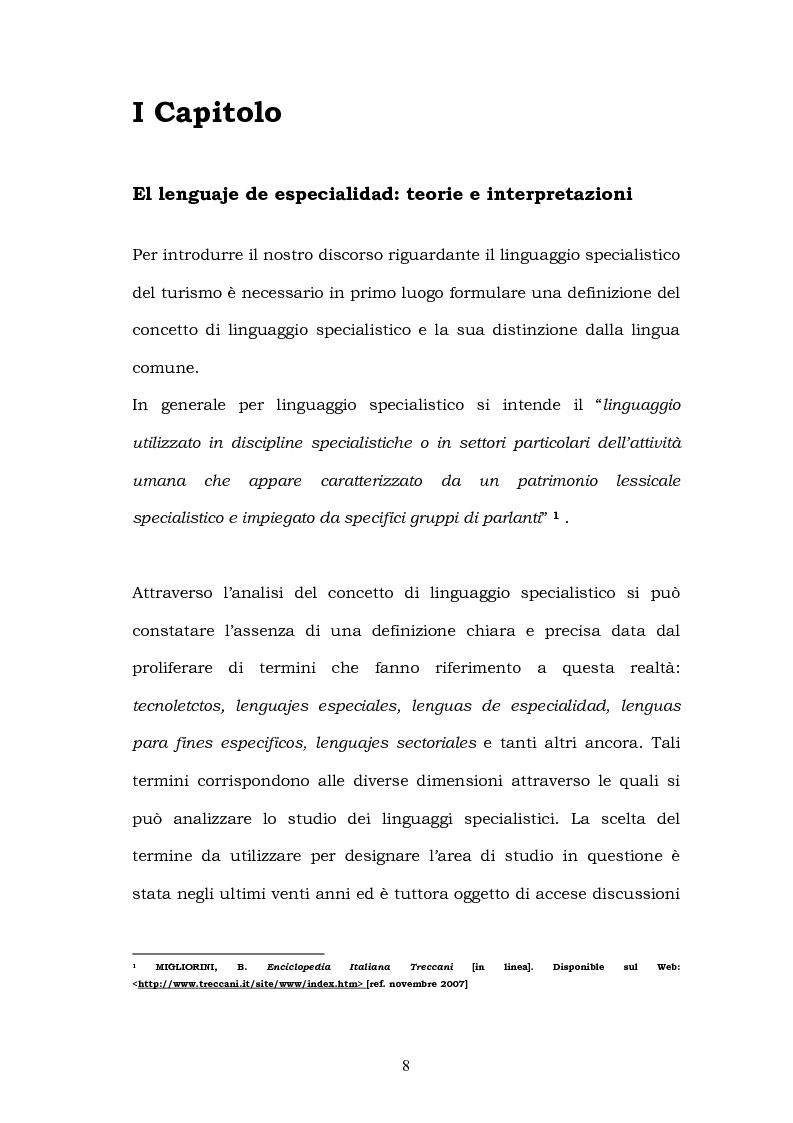 Anteprima della tesi: Il linguaggio del turismo: la traduzione dei realia tra linguaggio specialistico e lingua di cultura, Pagina 5