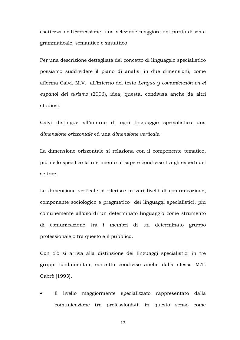 Anteprima della tesi: Il linguaggio del turismo: la traduzione dei realia tra linguaggio specialistico e lingua di cultura, Pagina 9