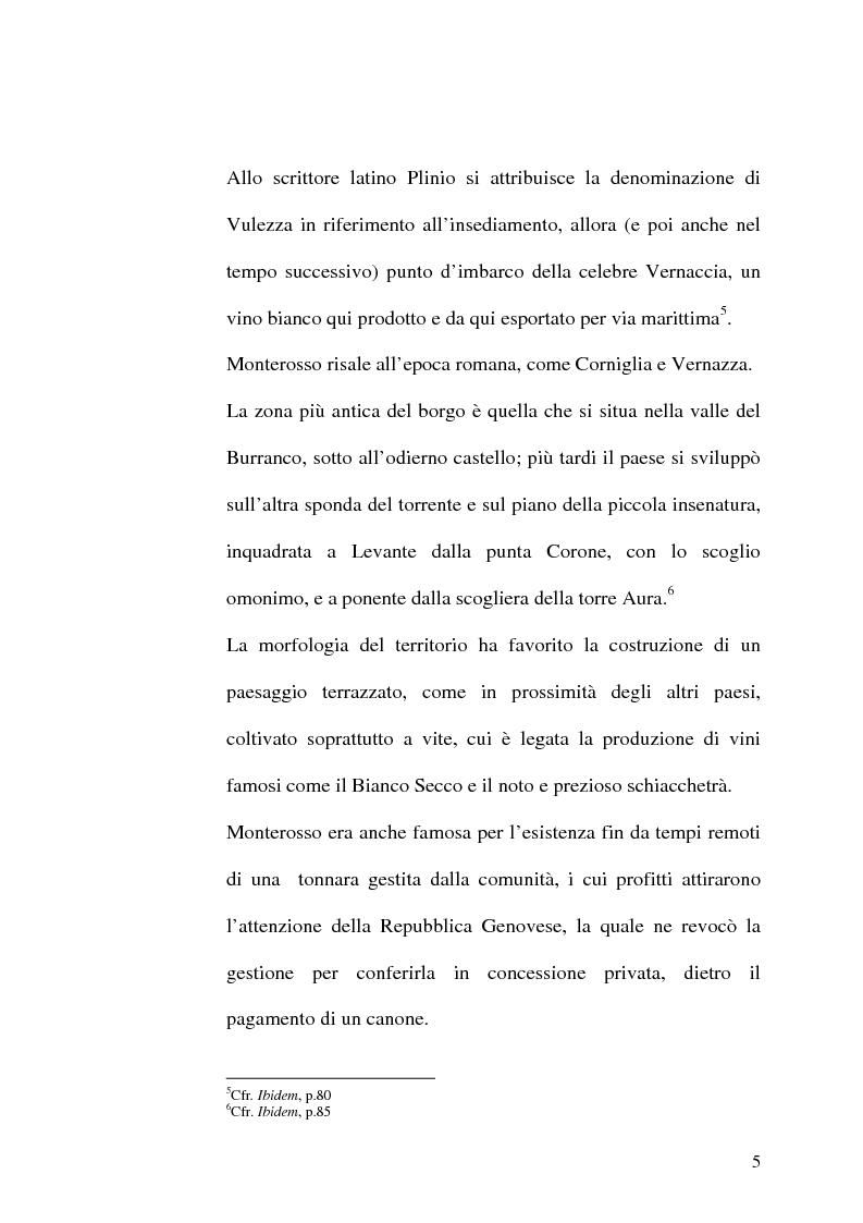Anteprima della tesi: Storia delle Cinque terre: dai borghi riveraschi al Parco nazionale Cinque terre, Pagina 5