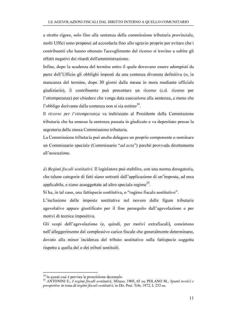 Anteprima della tesi: Le agevolazioni fiscali dal diritto interno a quello comunitario. Il caso degli spin off accademici, Pagina 11