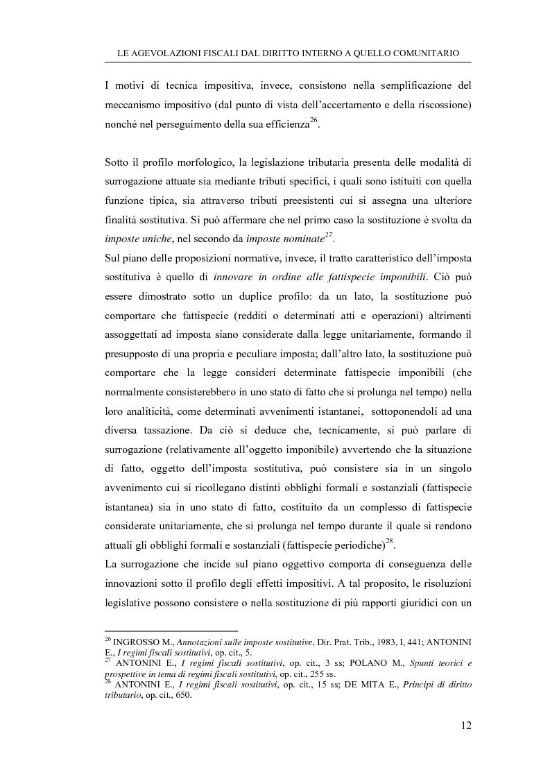 Anteprima della tesi: Le agevolazioni fiscali dal diritto interno a quello comunitario. Il caso degli spin off accademici, Pagina 12