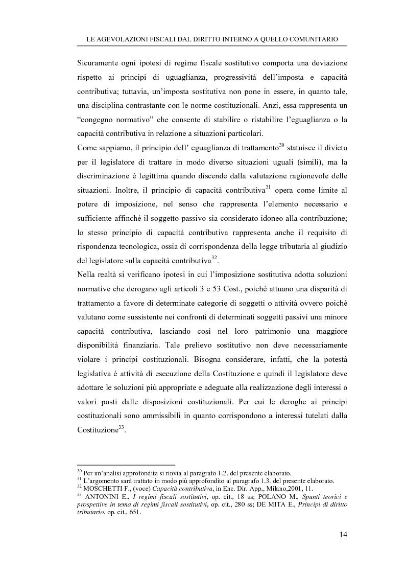 Anteprima della tesi: Le agevolazioni fiscali dal diritto interno a quello comunitario. Il caso degli spin off accademici, Pagina 14