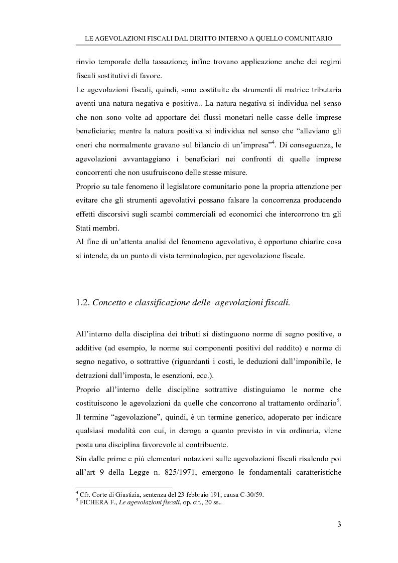 Anteprima della tesi: Le agevolazioni fiscali dal diritto interno a quello comunitario. Il caso degli spin off accademici, Pagina 3