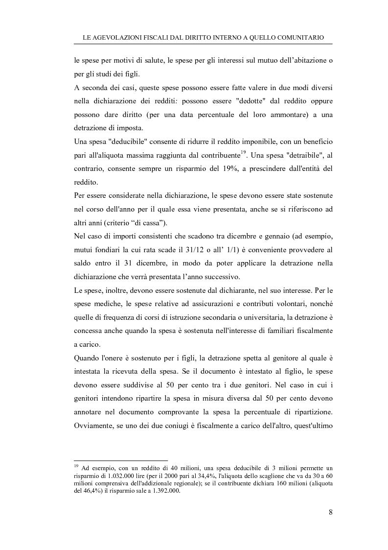 Anteprima della tesi: Le agevolazioni fiscali dal diritto interno a quello comunitario. Il caso degli spin off accademici, Pagina 8