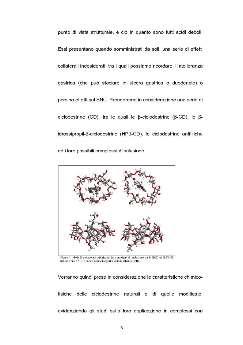 Anteprima della tesi: Impiego delle ciclodestrine in campo farmaceutico: applicazioni attuali e prospettive future, Pagina 4