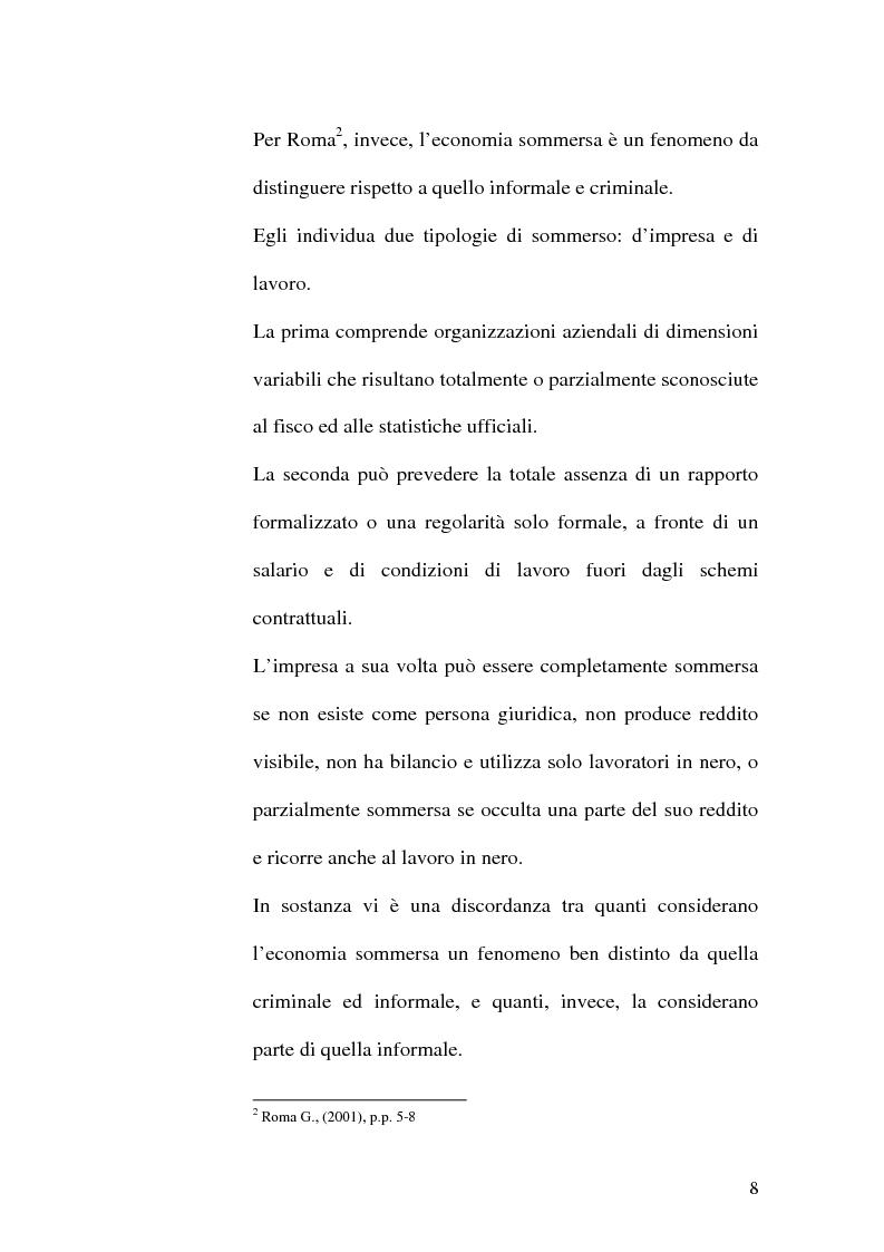 Anteprima della tesi: Dimensioni e caratteristiche dell'economia sommersa, Pagina 11
