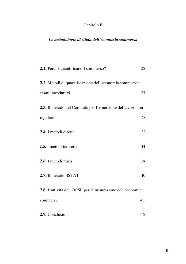 Anteprima della tesi: Dimensioni e caratteristiche dell'economia sommersa, Pagina 2