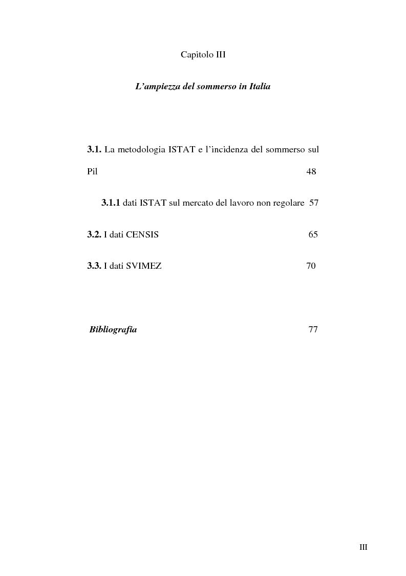 Anteprima della tesi: Dimensioni e caratteristiche dell'economia sommersa, Pagina 3