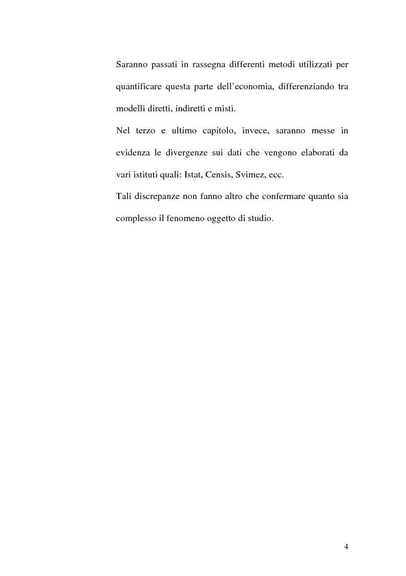 Anteprima della tesi: Dimensioni e caratteristiche dell'economia sommersa, Pagina 7