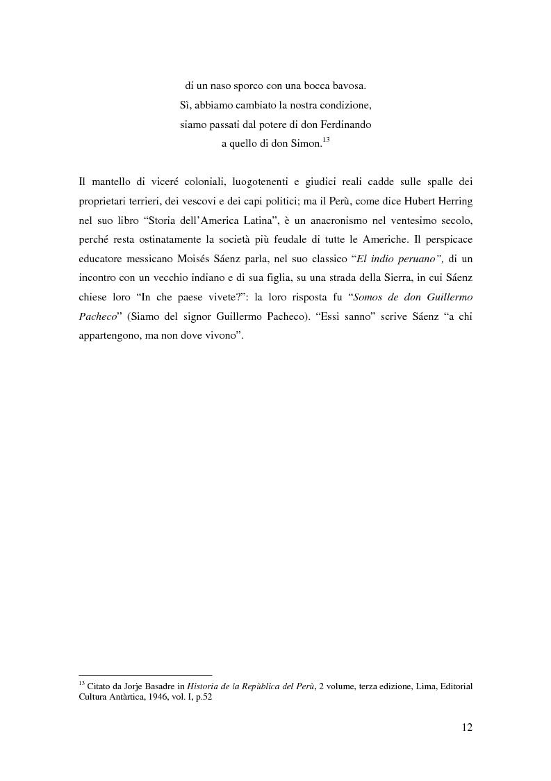 Anteprima della tesi: Processo a Fujimori. Dieci anni di dittatura, corruzione e violazione dei diritti umani., Pagina 10