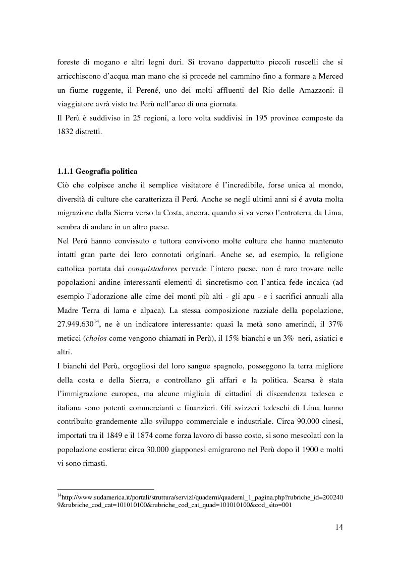 Anteprima della tesi: Processo a Fujimori. Dieci anni di dittatura, corruzione e violazione dei diritti umani., Pagina 12