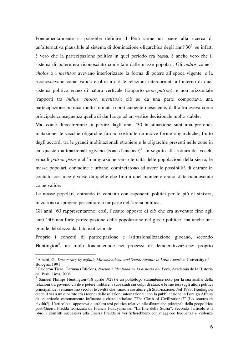 Anteprima della tesi: Processo a Fujimori. Dieci anni di dittatura, corruzione e violazione dei diritti umani., Pagina 4