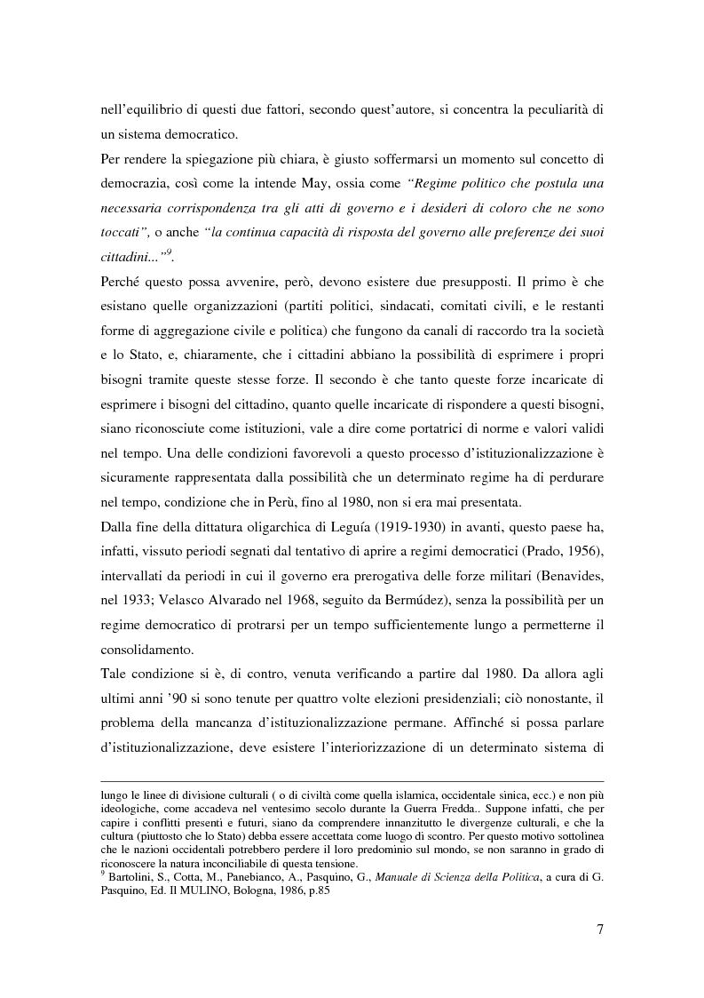 Anteprima della tesi: Processo a Fujimori. Dieci anni di dittatura, corruzione e violazione dei diritti umani., Pagina 5