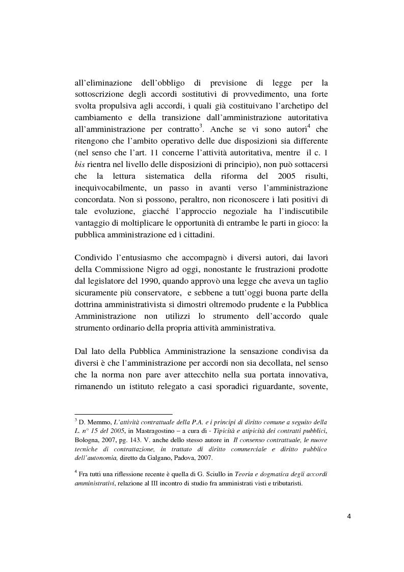 Anteprima della tesi: Gli accordi integrativi e sostitutivi del procedimento amministrativo, Pagina 2