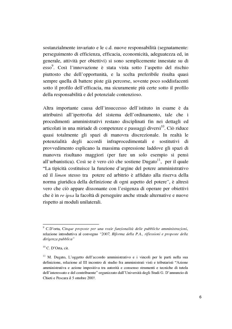 Anteprima della tesi: Gli accordi integrativi e sostitutivi del procedimento amministrativo, Pagina 4