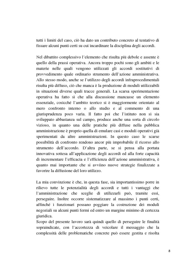 Anteprima della tesi: Gli accordi integrativi e sostitutivi del procedimento amministrativo, Pagina 6