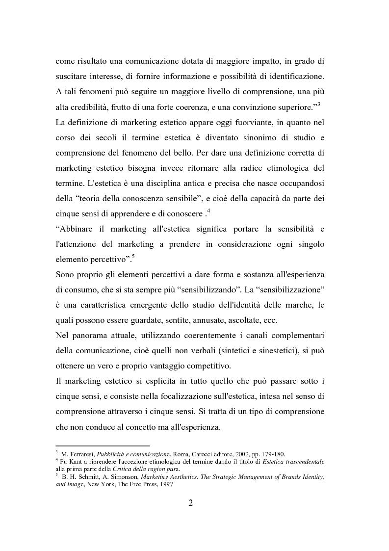 Anteprima della tesi: Il polisensualismo del consumatore: la riscoperta dell'olfatto, Pagina 6