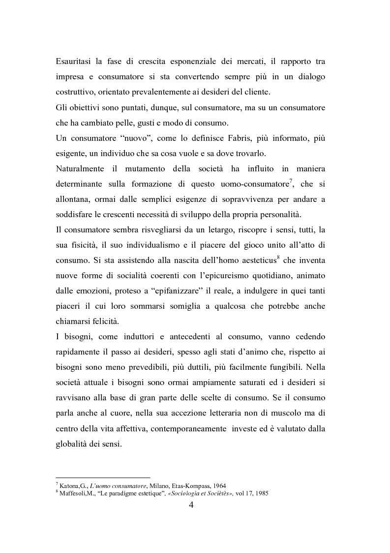 Anteprima della tesi: Il polisensualismo del consumatore: la riscoperta dell'olfatto, Pagina 8