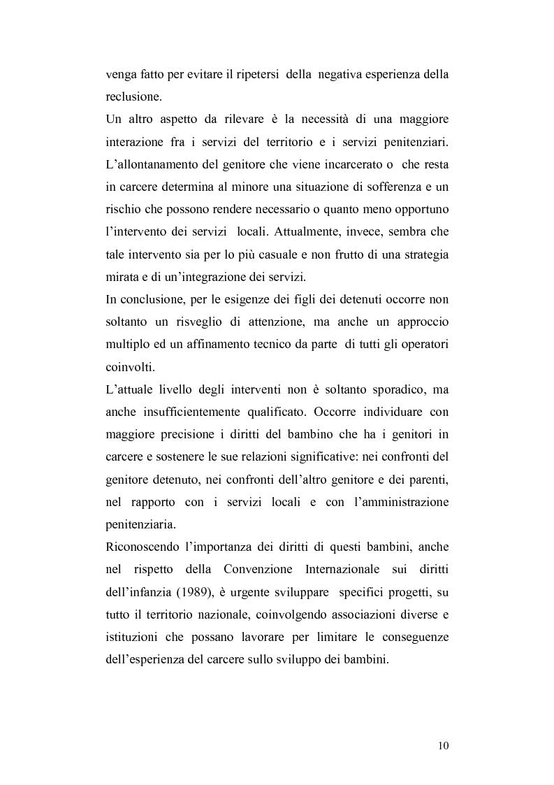 Anteprima della tesi: Lo sviluppo del bambino che vive con la madre detenuta, Pagina 7