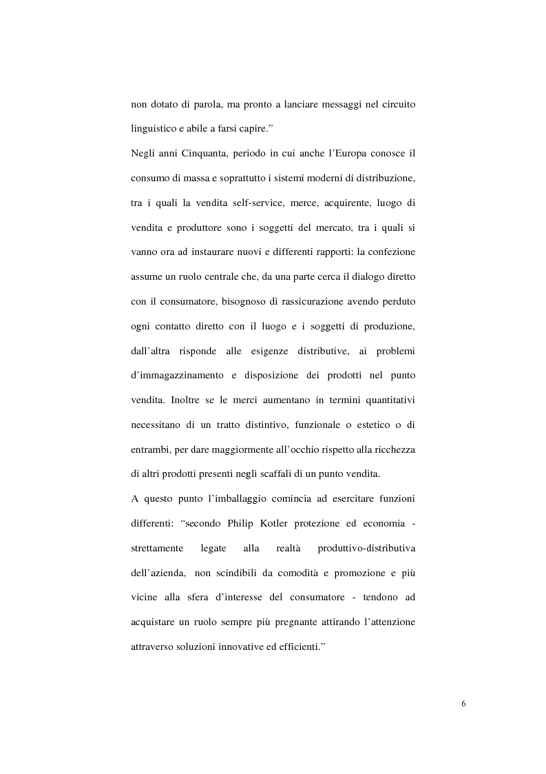 Anteprima della tesi: Aspetti psicologici sulla costruzione e fruizione del packaging, Pagina 4