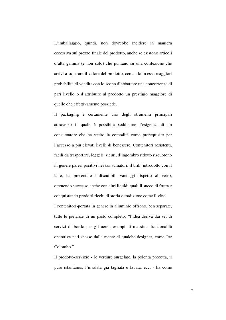Anteprima della tesi: Aspetti psicologici sulla costruzione e fruizione del packaging, Pagina 5