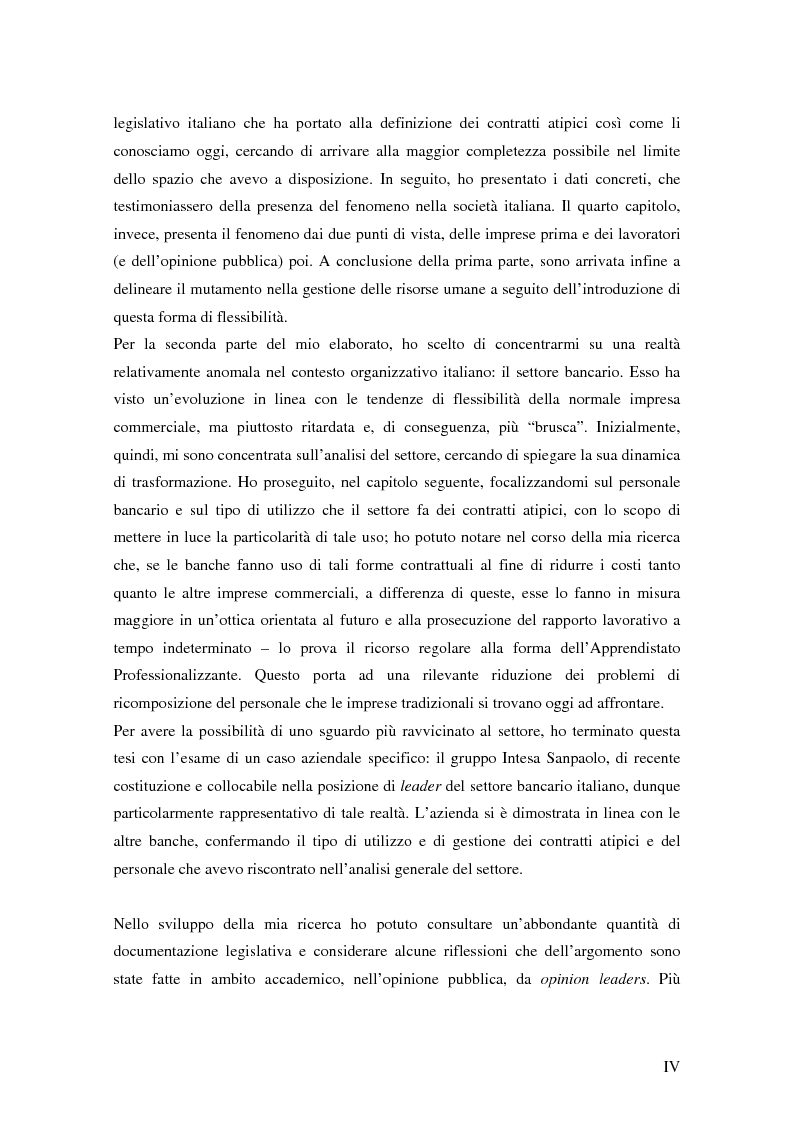 Anteprima della tesi: Verso il lavoro flessibile. I nuovi rapporti lavorativi nel settore bancario italiano., Pagina 2