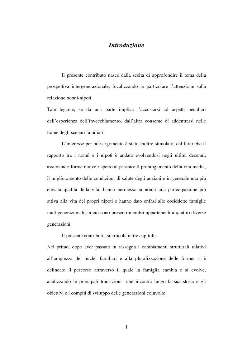 Anteprima della tesi: Eredità invisibili: la trasmissione intergenerazionale tra nonni e nipoti nel ciclo di vita familiare, Pagina 1