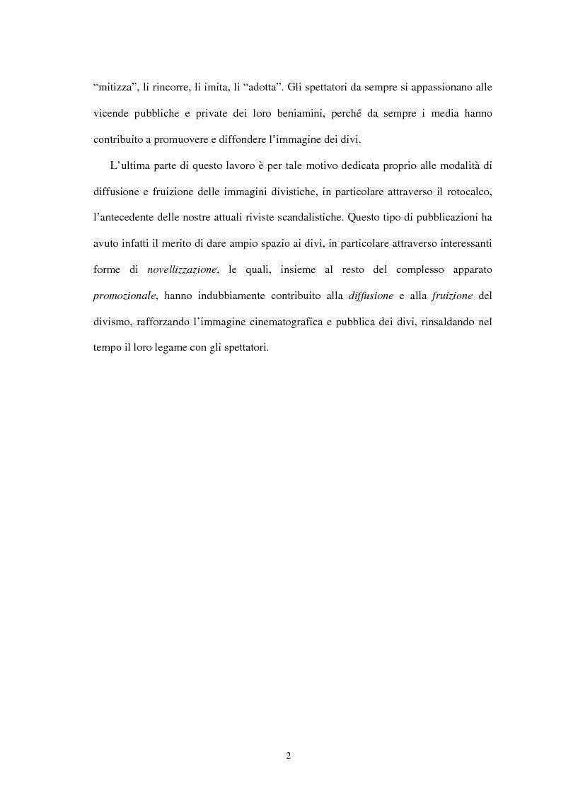 Anteprima della tesi: Forme di divismo nel cinema: gli attori, le star, il pubblico, Pagina 2