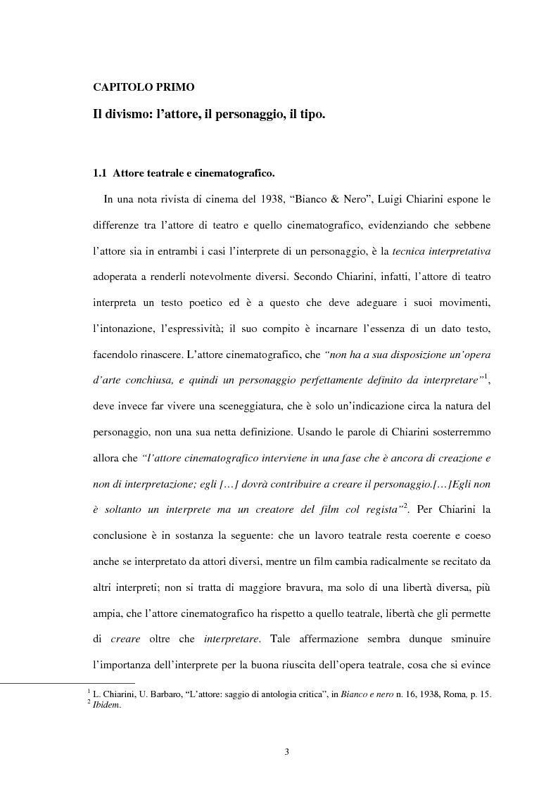 Anteprima della tesi: Forme di divismo nel cinema: gli attori, le star, il pubblico, Pagina 3