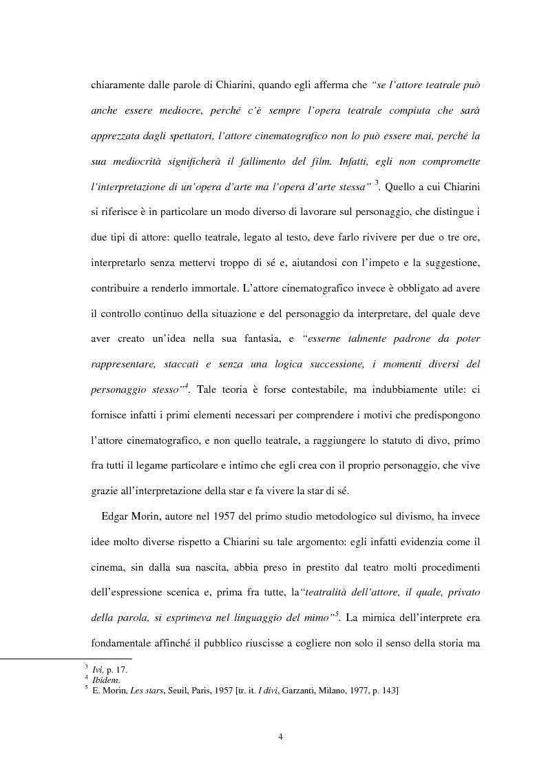 Anteprima della tesi: Forme di divismo nel cinema: gli attori, le star, il pubblico, Pagina 4