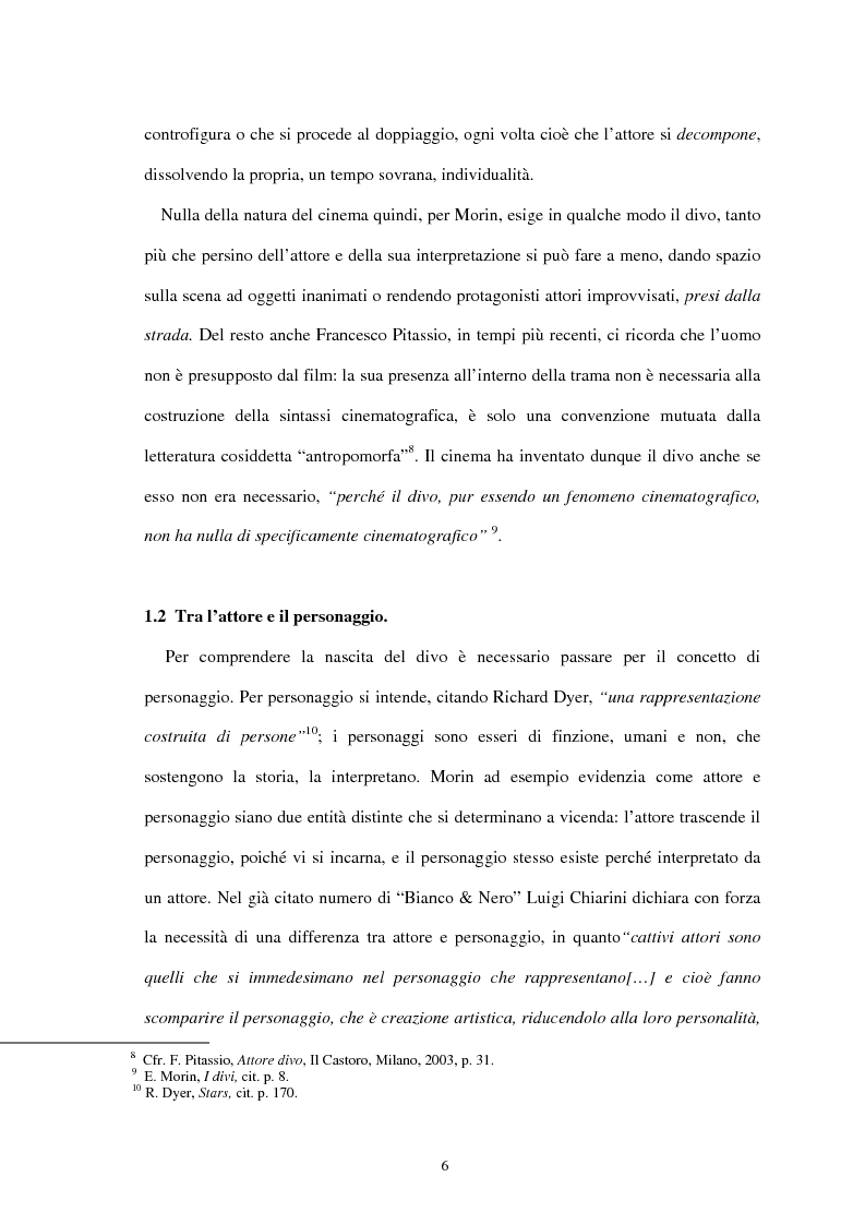 Anteprima della tesi: Forme di divismo nel cinema: gli attori, le star, il pubblico, Pagina 6
